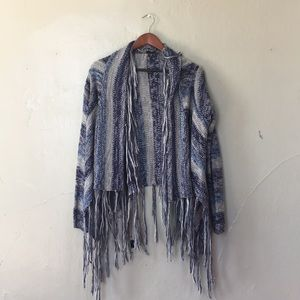 Blue heavy weight Shawl/Cardigan